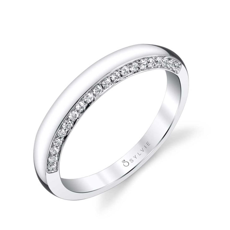 Unique Round Diamond Wedding Band BSY954 - Chalmers Jewelers