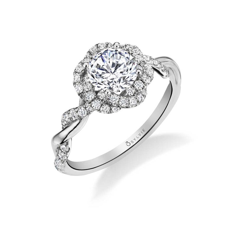 Unique Spiral Engagement Ring S1703 - Chalmers Jewelers