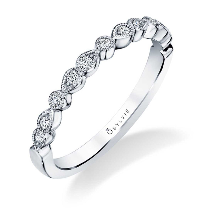 Sylvie Stackable Wedding Band - B0033 - Chalmers Jewelers
