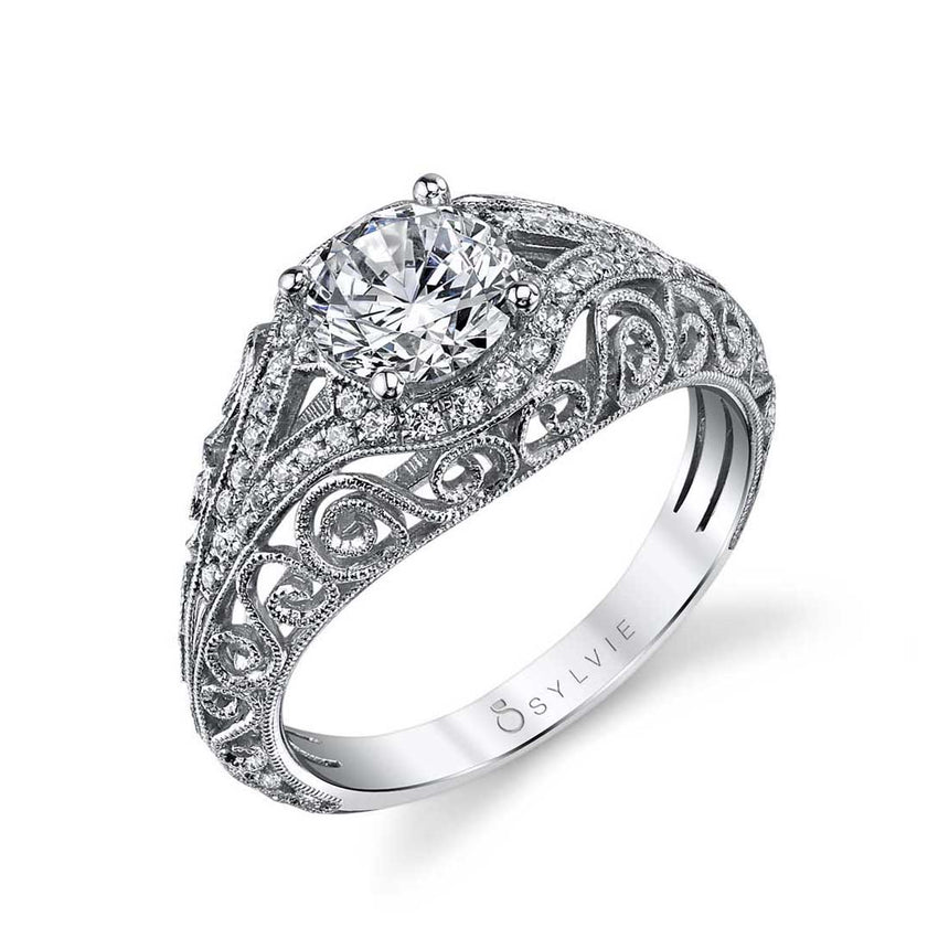 Vintage Inspired Engagement Ring S1203 - Chalmers Jewelers