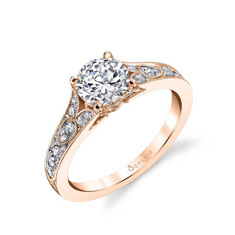 Vintage Inspired Engagement Ring S1389 - Chalmers Jewelers