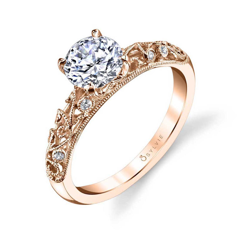 Vintage Inspired Engagement Ring S1500 - Chalmers Jewelers