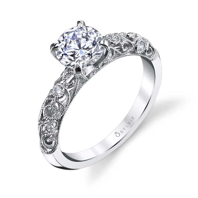 Vintage Inspired Solitaire Engagement Ring S1501 - Chalmers Jewelers
