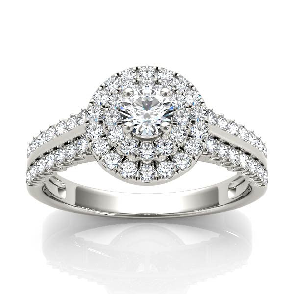 Two-Tier Halo Engagement Ring