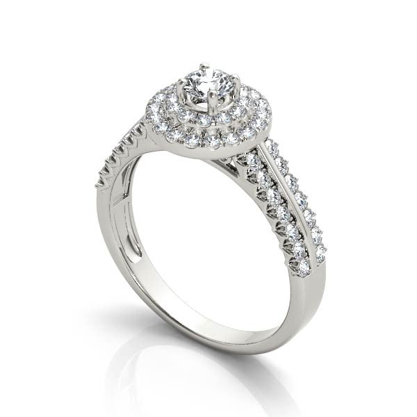 Two-Tier Halo Engagement Ring - Chalmers Jewelers