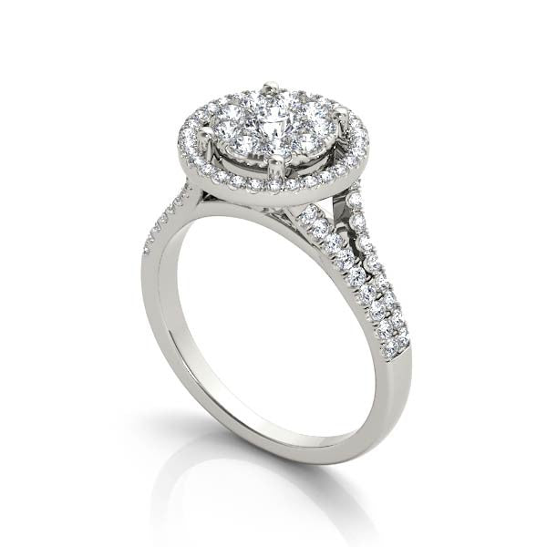 Extended Halo Engagement Ring