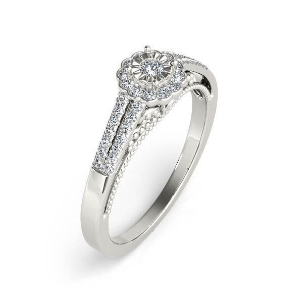Petite Floral Engagement Ring - Chalmers Jewelers