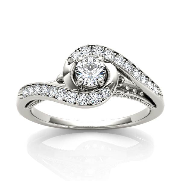 Diamond Wrapped Engagement Ring