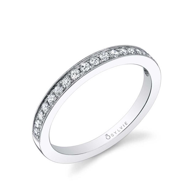 Classic Wedding Band With Milgrain Accents BSY708 - Chalmers Jewelers