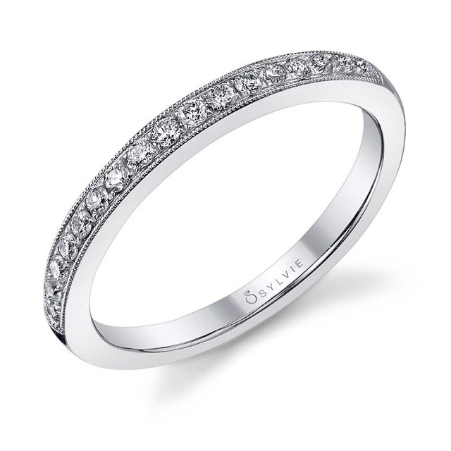 Classic Wedding Band With Milgrain Accents BSY808 - Chalmers Jewelers
