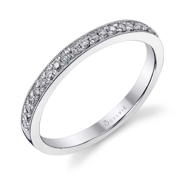 Classic Wedding Band With Milgrain Accents BSY821 - Chalmers Jewelers