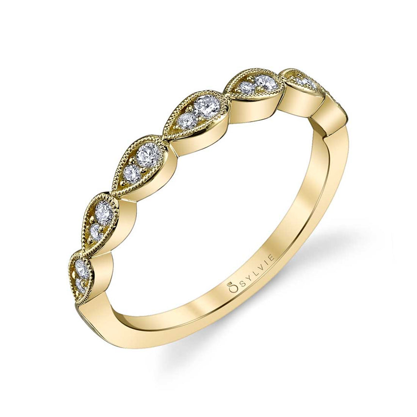 Diamond Stackable Wedding Band B0020 - Chalmers Jewelers