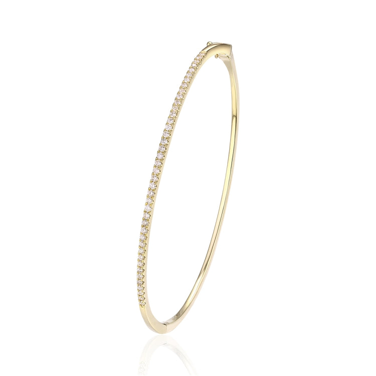 14k Gold Diamond Bangle Bracelet - Chalmers Jewelers