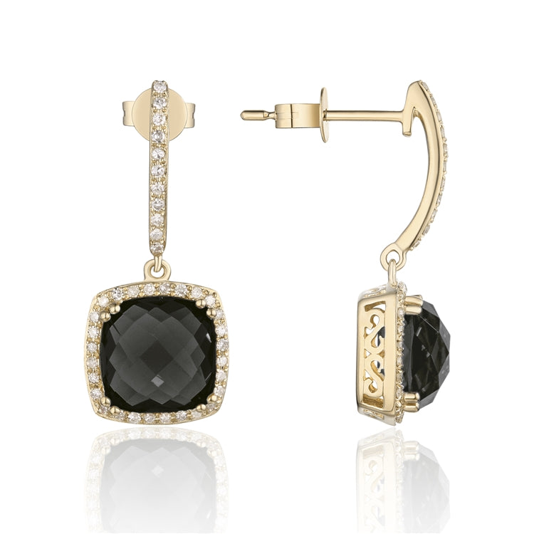 BLACK ONYX 14K GOLD EARRINGS