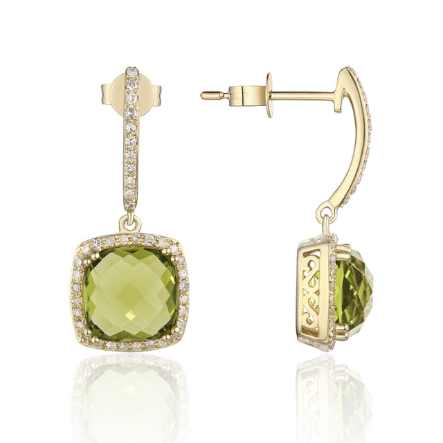 PERIDOT 14K GOLD EARRINGS