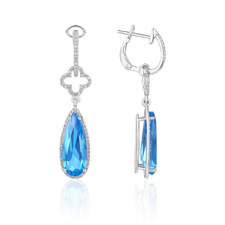 BLUE TOPAZ 14K GOLD EARRINGS