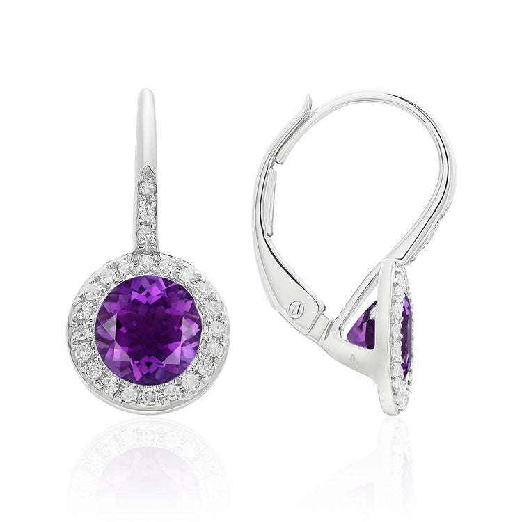 AMETHYST 14K GOLD EARRINGS