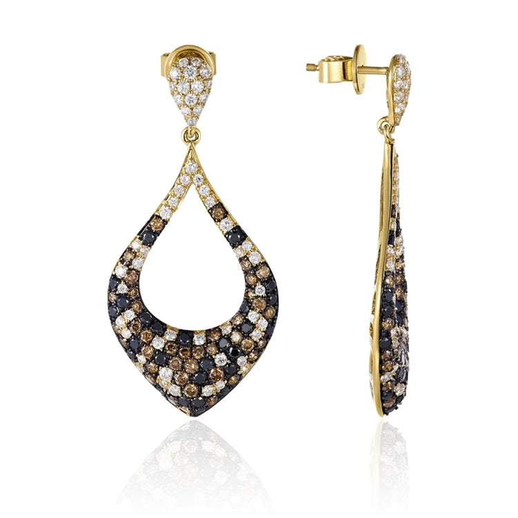 14k Multi-Colored Diamond Fashion Earrings