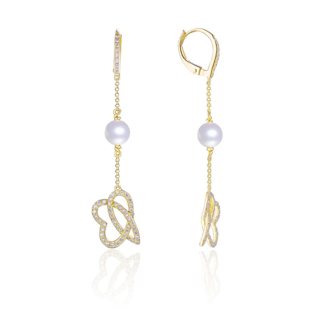 Pearl 14kt Drop Earrings