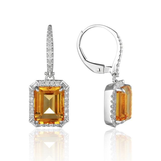 CITRINE 14K GOLD EARRINGS