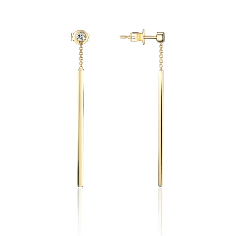 14k Gold Bar Dangle Earring - Chalmers Jewelers