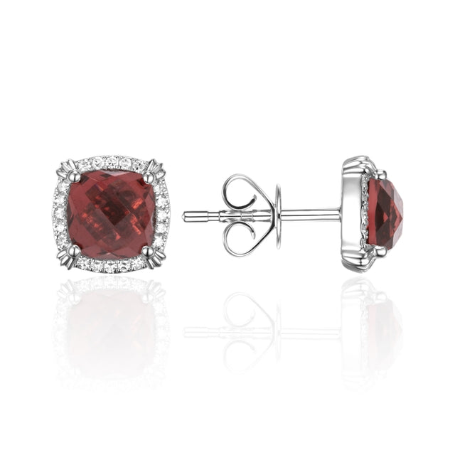 GARNET 14K GOLD EARRINGS