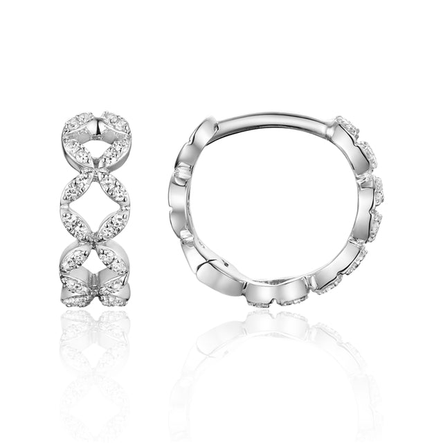 14k Gold Mini Diamond Hoop Earrings