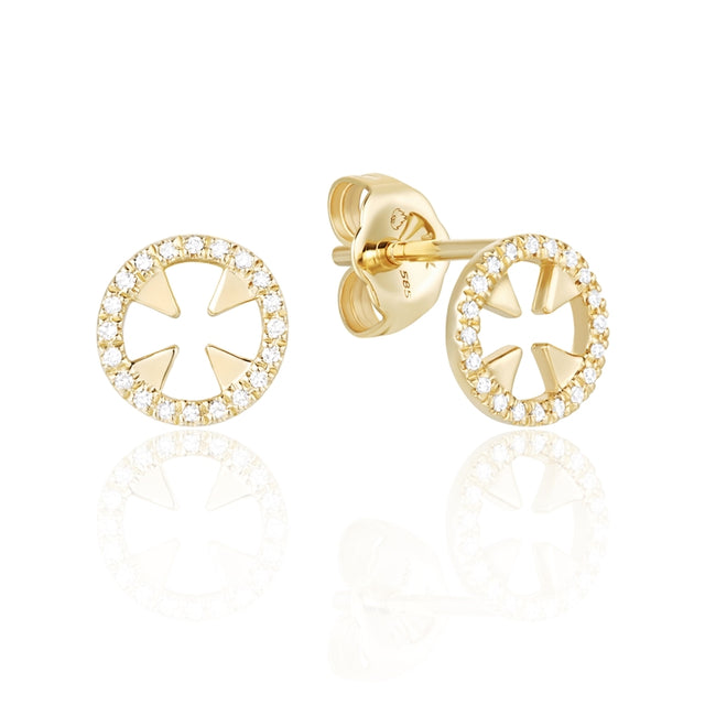 14k Diamond Fashion Earrings