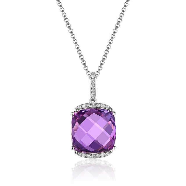 Amethyst 14kt Gold Necklace