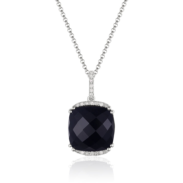 Black Onyx 14kt Gold Necklace
