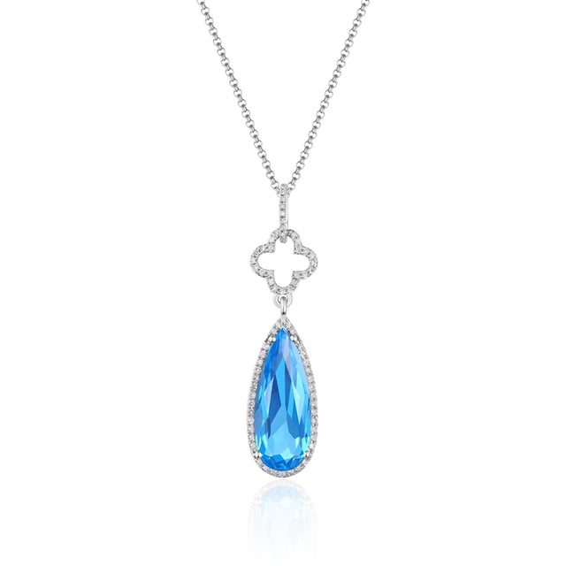 Blue Topaz 14kt Gold Necklace