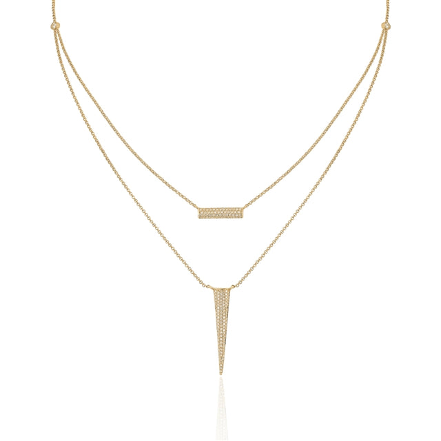 14k Pave Diamond Necklace