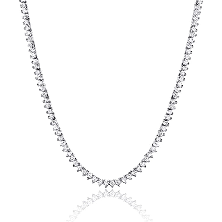 14k Diamond Tennis Necklace