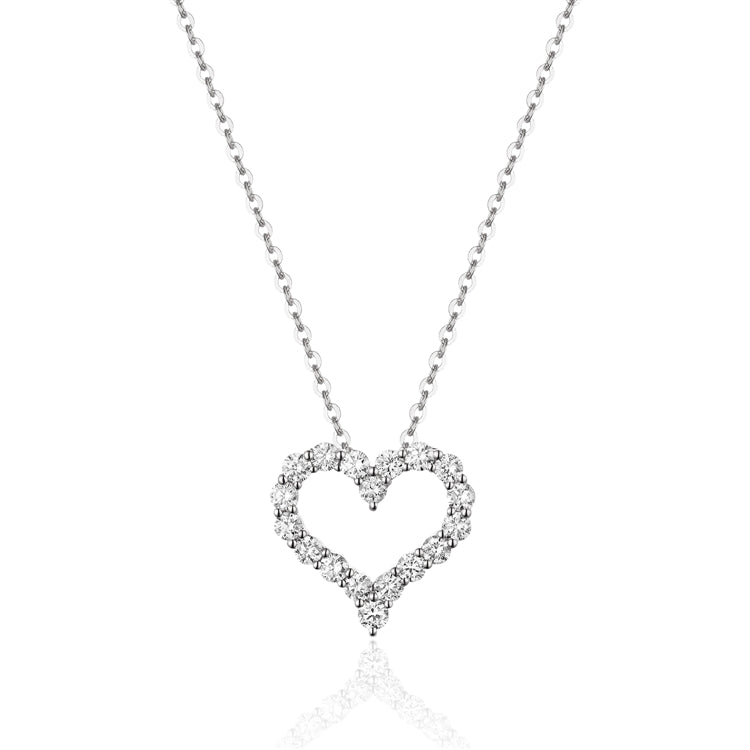 14k Diamond Heart Necklace - Chalmers Jewelers