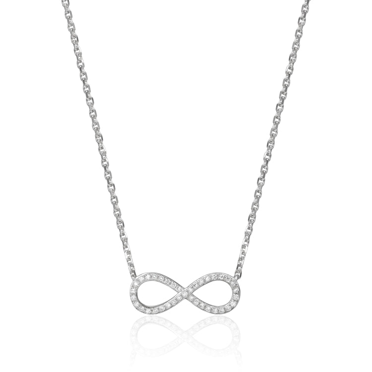 14k Infinity Diamond Necklace
