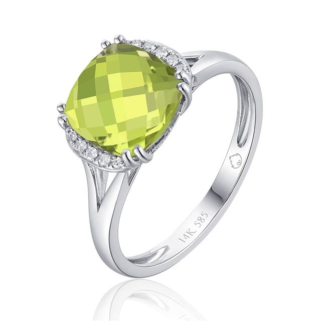 Peridot 14k Gold Ring