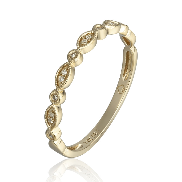 14K Stackable Diamond Ring - Chalmers Jewelers