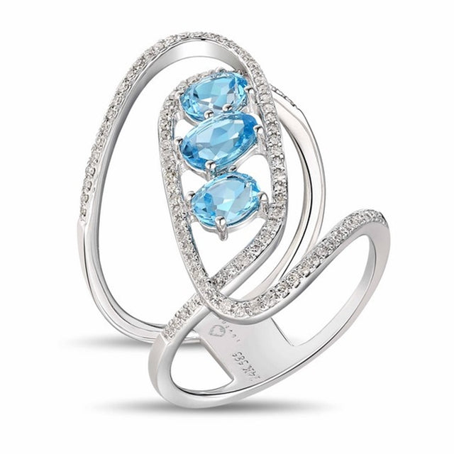 Blue Topaz 14kt Gold Ring