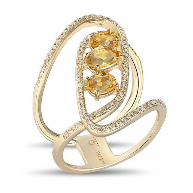 Citrine 14kt Gold Ring