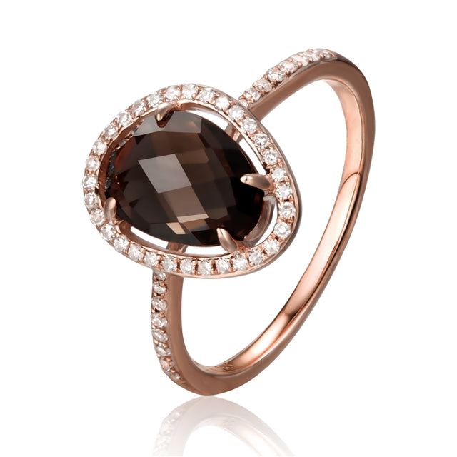 Smoke Topaz 14kt Gold Ring