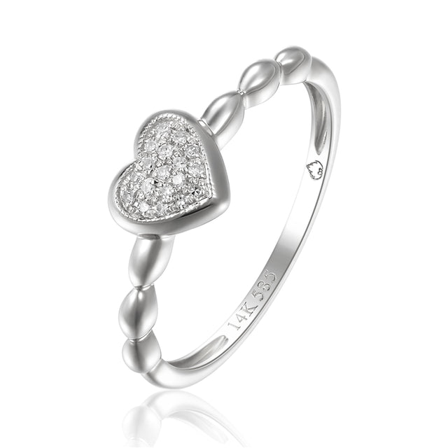 14K gold fashion heart ring