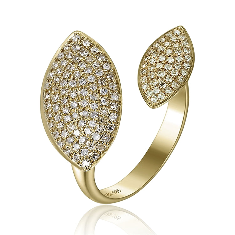 14kt Pave Diamond Cocktail Ring