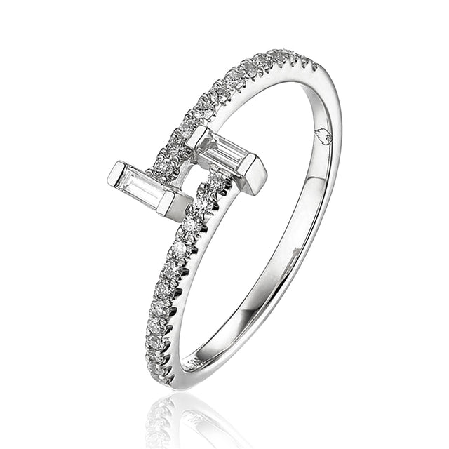 14k Baguette Diamond Ring - Chalmers Jewelers