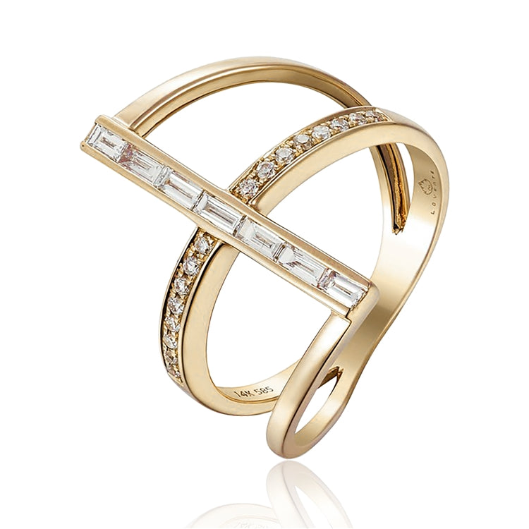 14K gold fashion ring