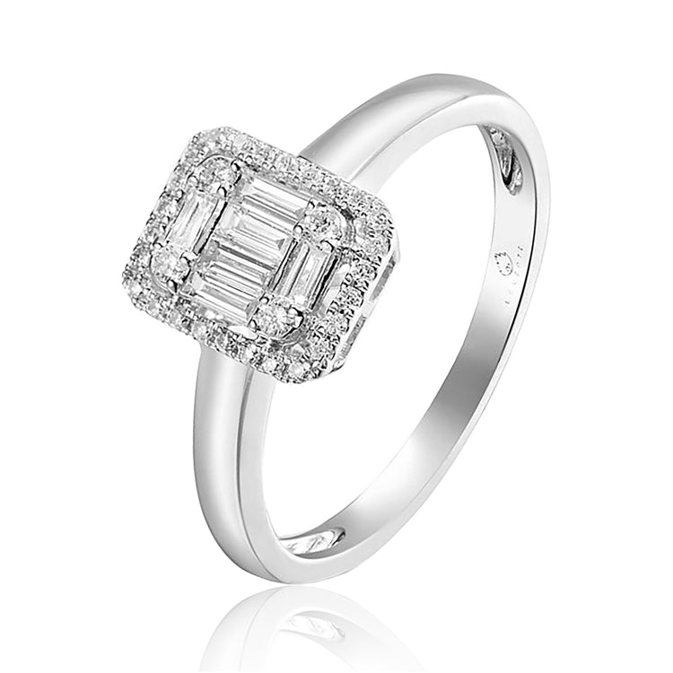 14k White gold baguette diamond ring - Chalmers Jewelers