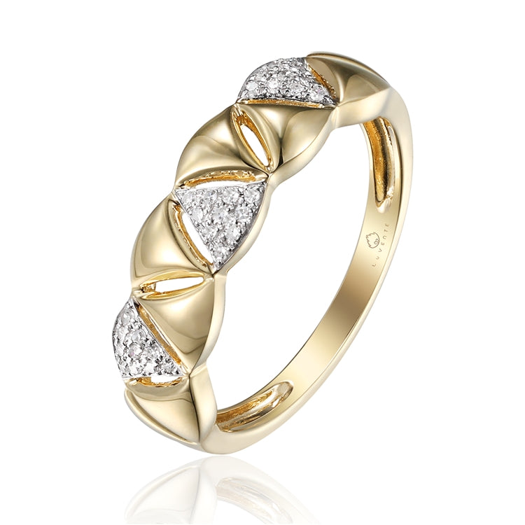 14K YELLOW DIAMOND RING
