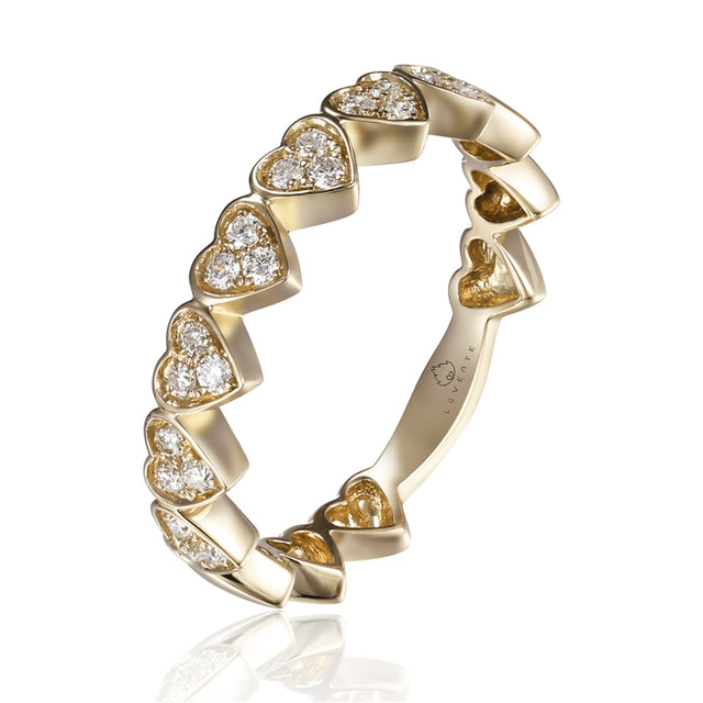 14k Gold Diamond Heart Ring - Chalmers Jewelers