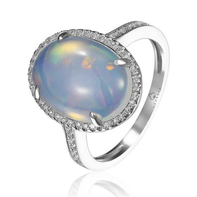 Opal 14kt White Gold Ring