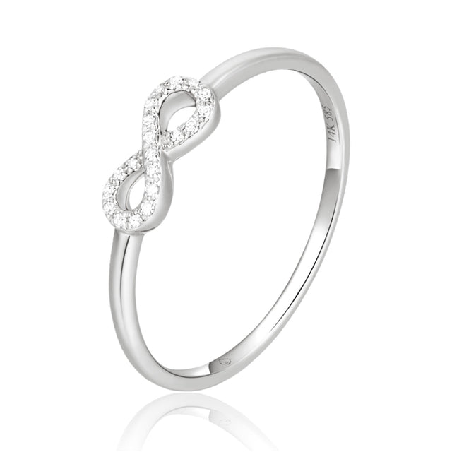 14K diamond infinity ring - Chalmers Jewelers