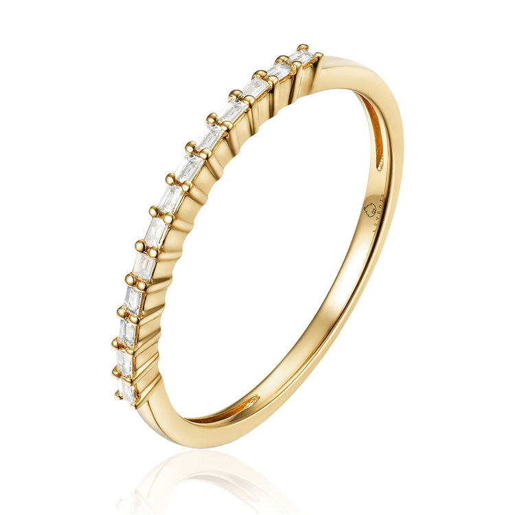14K Gold baguette diamond band - Chalmers Jewelers